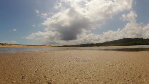 Timelapse of the Tide going Out Stock Video Footage