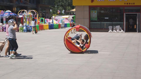 Harbin Street Self-propelled rocking bench Footage