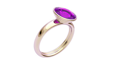 Pink gold ring Stock Video Footage