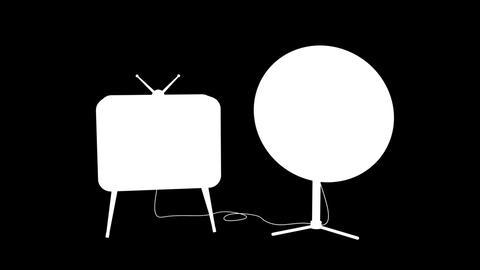 Satellite TV Stock Video Footage
