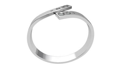 Platinum ring with six diamonds Stock Video Footage
