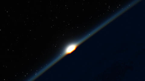 Sunrise in Space Stock Video Footage