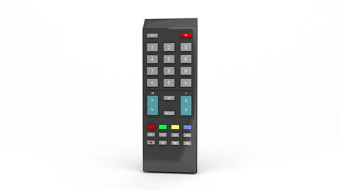 Black remote control Animation