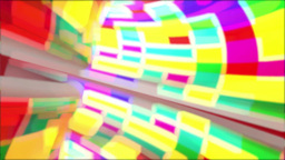 Colorful tunnel Stock Video Footage