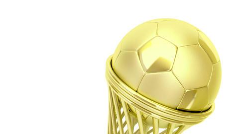 Golden football trophy Stock Video Footage