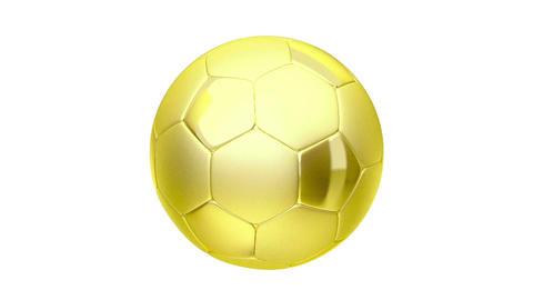 Golden soccer ball Stock Video Footage