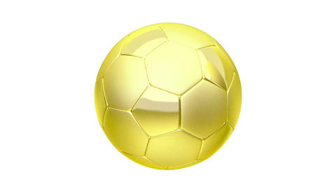 Golden soccer ball Animation