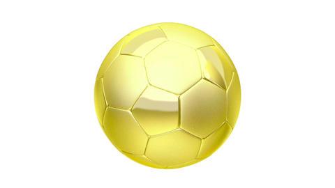 Golden soccer ball Animation