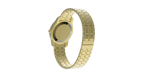 Gold watch Stock Video Footage