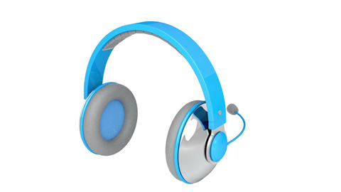 Headphones with microphone Stock Video Footage