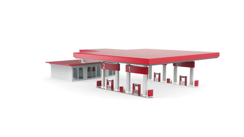 Petrol Station stock footage