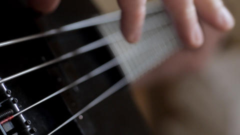 Playing Bass Guitar Stock Video Footage