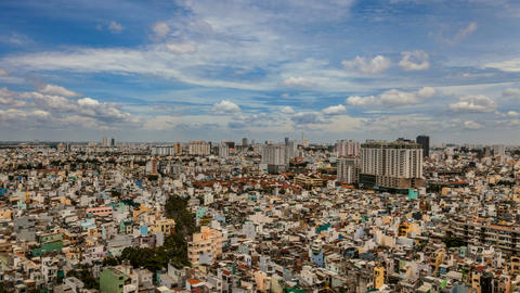 4k - CITY AERIAL VIEW - SAIGON Timelapse Stock Video Footage