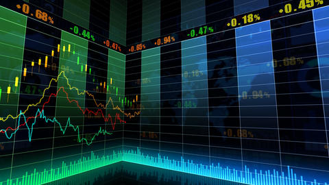 Stock Market Trends 067 Stock Video Footage