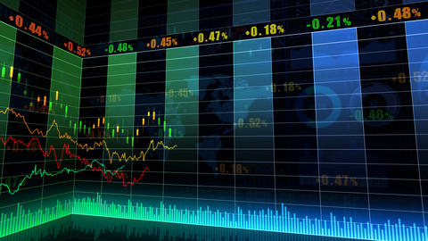 Stock Market Trends 067 Stock Video Footage