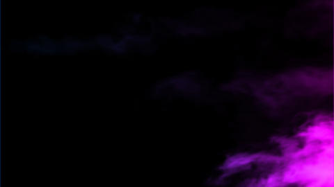 Colored Smoke flows through the frame and fills th Animation