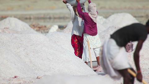 Salt mining Footage