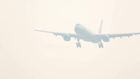 Early morning landing Stock Video Footage