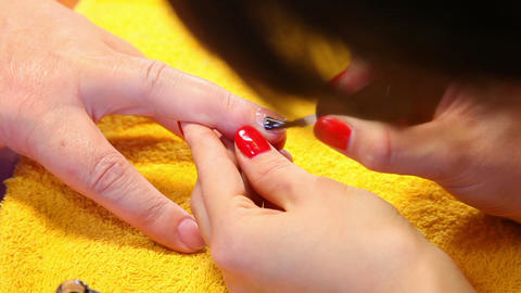 Nail polishing Stock Video Footage