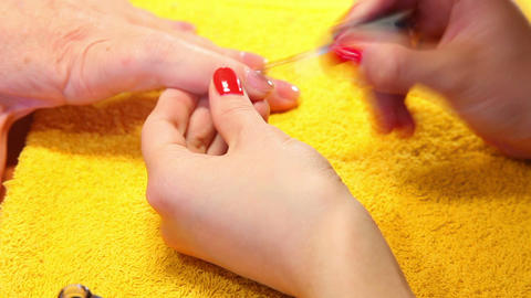 Nail polishing Footage