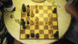 Chessboard chess players table 2 Footage