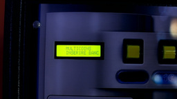 Euro money coin change machine detail Footage