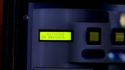 Euro money coin change machine detail Stock Video Footage