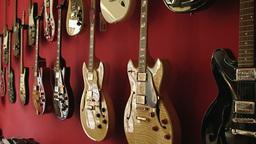 Guitar shop 1 Stock Video Footage