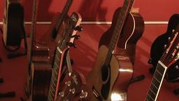 Guitar shop 3 Stock Video Footage