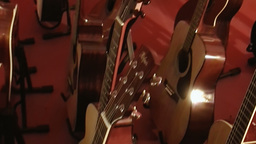 Guitar shop 3 Stock Video Footage