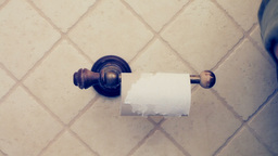 Toilet roll toilet paper ends Stock Video Footage