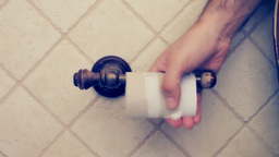 Toilet Roll Toilet Paper Ends stock footage