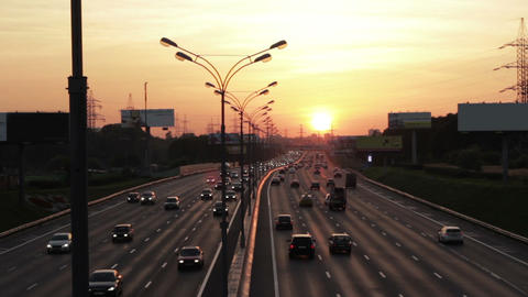 Moscow Road. MKAD. Russia Stock Video Footage