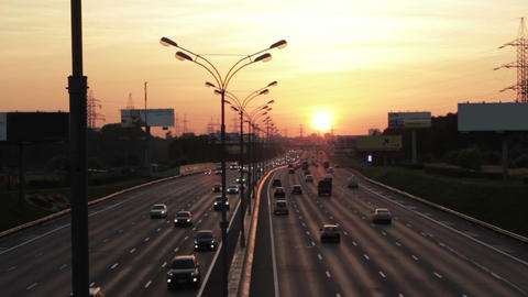 Moscow Road. MKAD. Russia stock footage