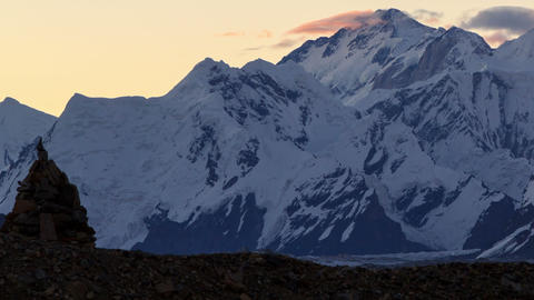 Sunrise in the mountains. Time Lapse Stock Video Footage