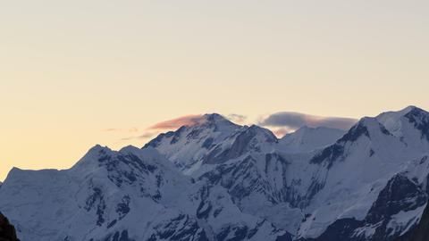 Sunrise in the mountains. Time Lapse. 4K Stock Video Footage