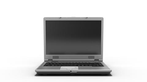 Clean Laptop Animation HD Stock Video Footage