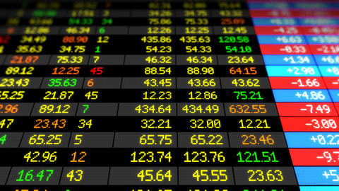 Stock Market board looped HD Animation