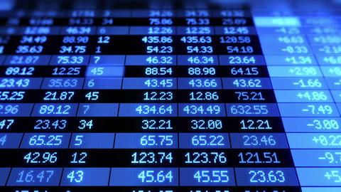 Stock Market Board Moving. Blue Color. Looped Anim stock footage