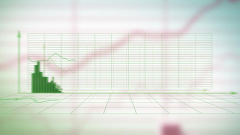 Financial diagrams - loop-ready fly through in HD Stock Video Footage