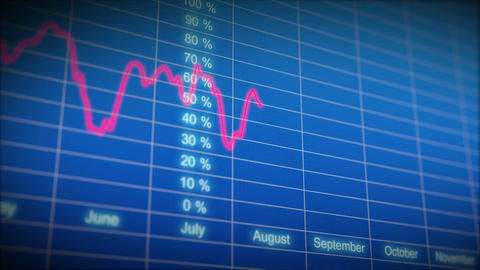 Stock Market board with graph. HD 1080. Looped ani Stock Video Footage
