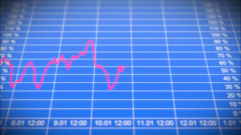 Stock Market board with graph. Front view. HD 1080 Stock Video Footage