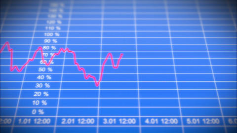 Stock Market board with graph. Front view. HD 1080 Animation