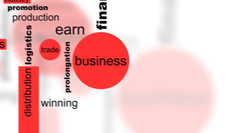 Business Words Concept Animation - Loop-ready HD, Stock Video Footage