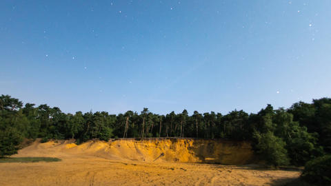 full moon time lapse shadow sandpit tree 11053 Footage