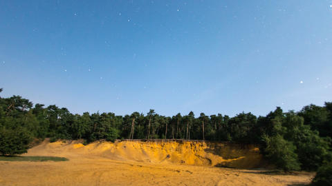 full moon time lapse shadow sandpit tree 11053 Stock Video Footage