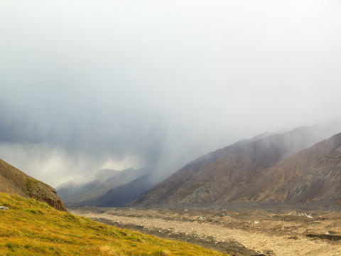 Rain in the mountains. Kirgystan, central Tien Sha Stock Video Footage