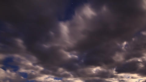 Moonrise. Time Lapse Stock Video Footage