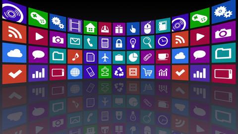 Smart Phone apps R Ac 3b 1 HD Stock Video Footage