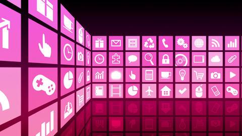 Smart Phone apps R Cs 3b 1 HD Stock Video Footage